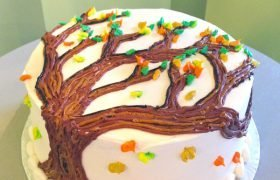 Autumn Tree Layer Cake