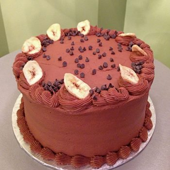 Banana Chocolate Chip Layer Cake