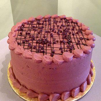 Chocolate Chocolate Chip Layer Cake