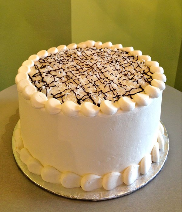 Chocolate Covered Coconut Layer Cake