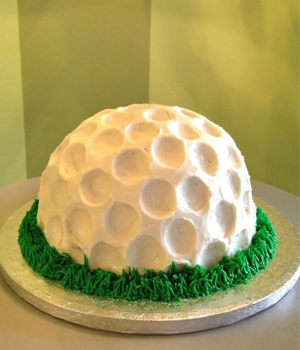 Golf Ball Shaped Cake