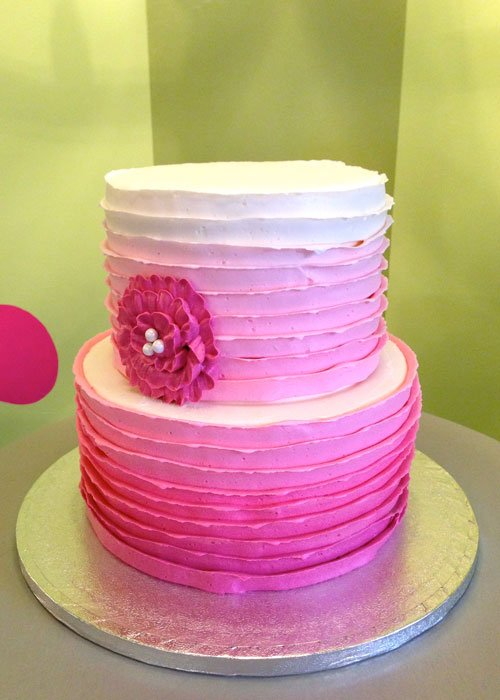 Country Ribbon Ombre Tiered Cake Classy Girl Cupcakes