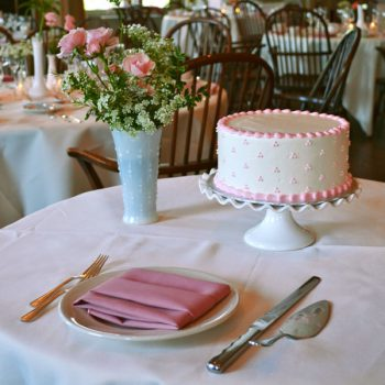 Swiss Dot Layer Cake - Pink
