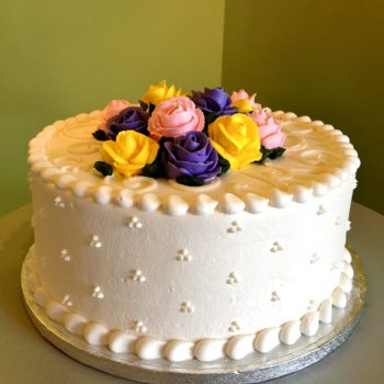 Rose Layer Cake - Purple