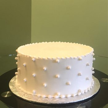 Sugar Pearl Button Layer Cake