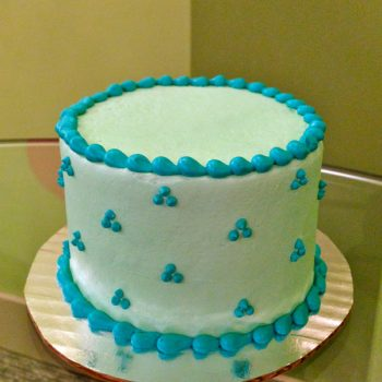 Swiss Dot Layer Cake - Blue