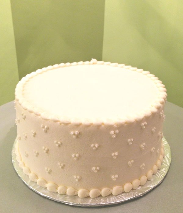 Single Layer White Cake