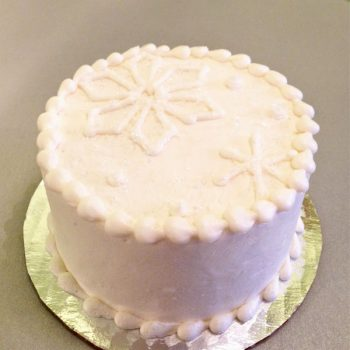 Snowflake Layer Cake - White