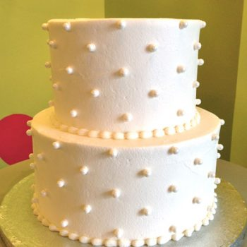 Sugar Pearl Button Tiered Cake