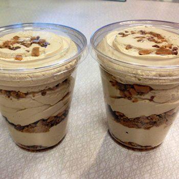 Salted Caramel Toffee Cupcake Mousse Parfait
