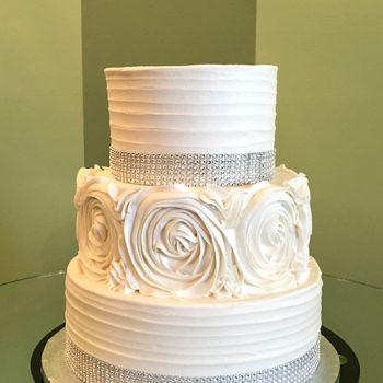 Anabelle Rosette Wedding Cake