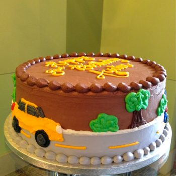Car Layer Cake - Yellow Car