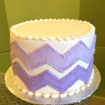 Chevron Layer Cake - Purple