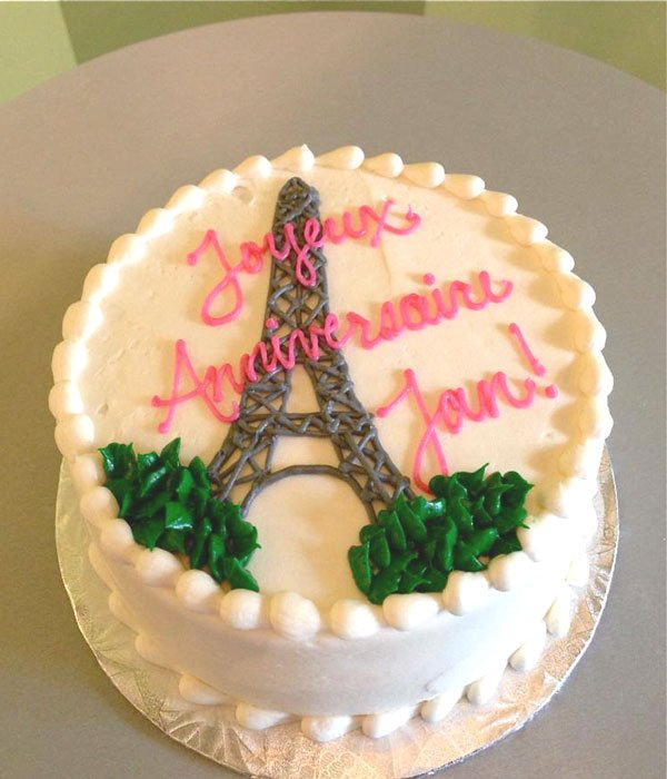 Eiffel Tower Layer Cake