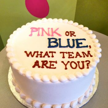 Gender Reveal Layer Cake