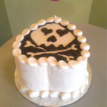 I Heart Skulls Layer Cake