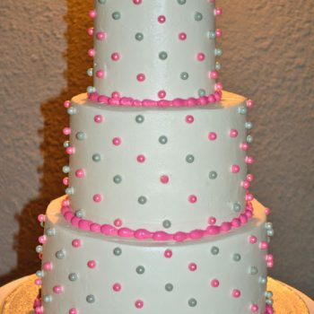 Sugar Pearl Button Wedding Cake