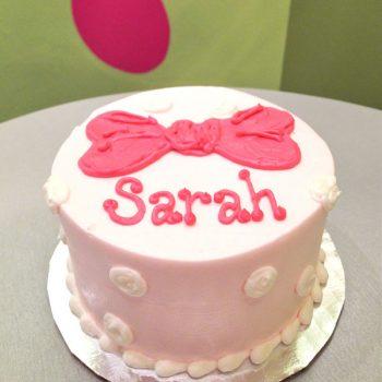 Polka Dot Bow Layer Cake