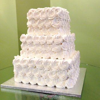 Rosette Wedding Cake - Square