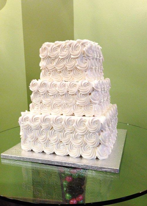 Rosette Cake Design : Rosette Wedding Cake   Classy Girl Cupcakes