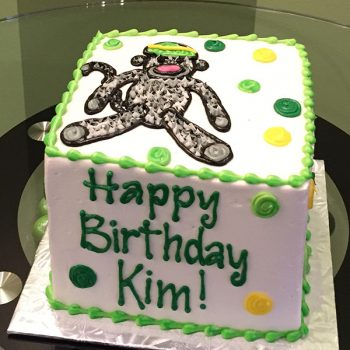 Sock Monkey Layer Cake - Green