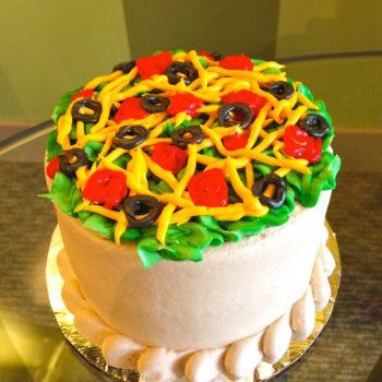 Taco Dip Layer Cake