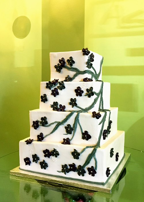 Blossom Wedding Cake, Purple