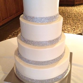 Crystal Wedding Cake, White