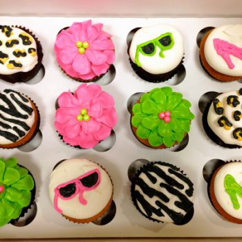 Flower Petal, Animal Print, Fashion Cupcakes