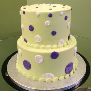 Alice Tiered Cake - Green Purple