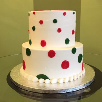 Alice Tiered Cake - Red Green