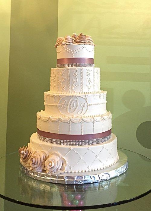 Ana Wedding Cake - Taupe