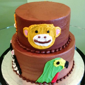 Animal Face Tiered Cake - Back