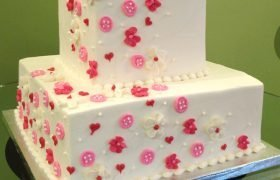 Baby Buttons Tiered Cake