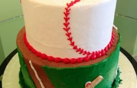 Baseball Tiered Cake