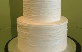 Birch Bark Tiered Cake