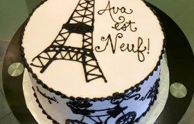 Bon Anniversaire Layer Cake