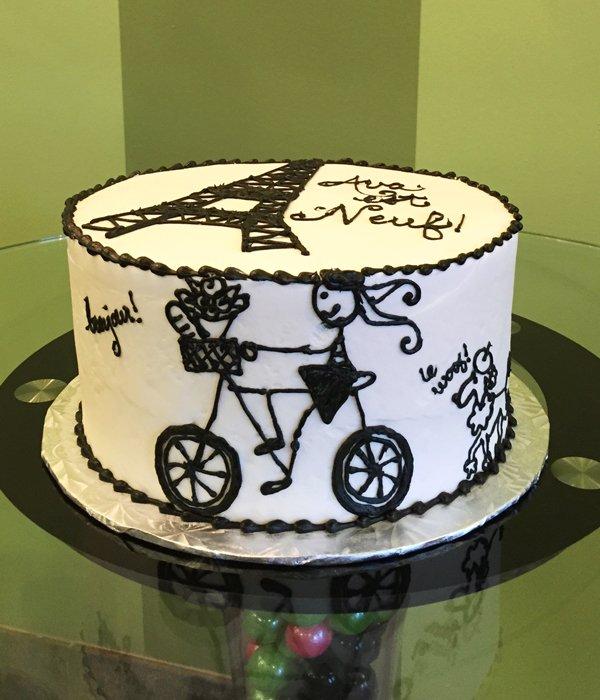 Bon Anniversaire Layer Cake - Side