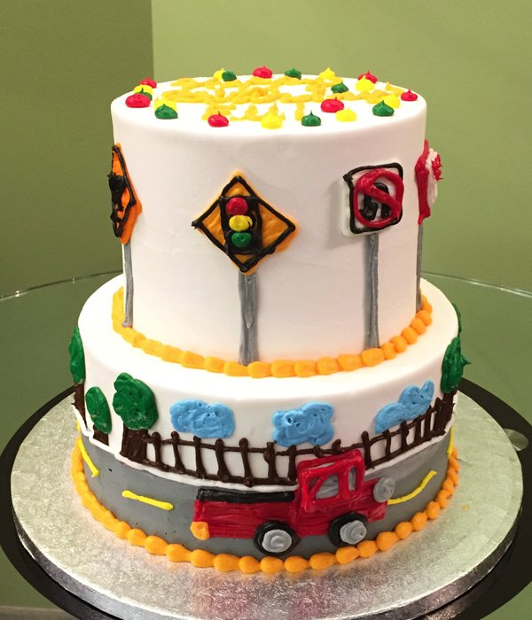 Car Tiered Cake - Red