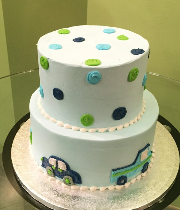 Car Polka Dot Tiered Cake