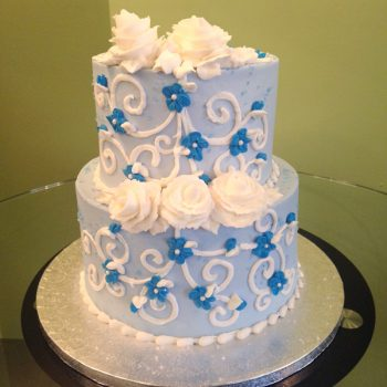 Charlotte Tiered Cake - Blue