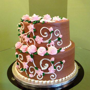 Charlotte Tiered Cake - Chocolate Pink