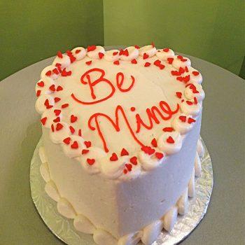 Conversation Heart Layer Cake