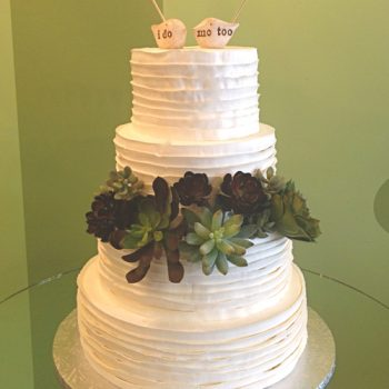 Country Ribbon Wedding Cake
