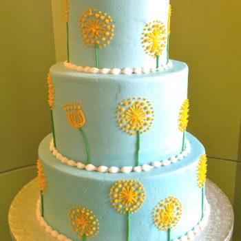 Dandelion Tiered Cake