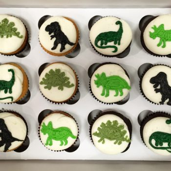 Dinosaur Decorated Cupcakes