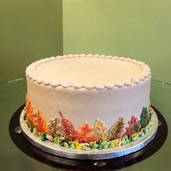 Fall Leaves Layer Cake