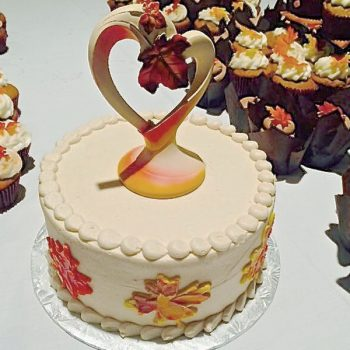 Fall Leaves Layer Cake - Maple