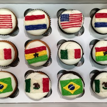 Flag Decorated Cupcakes