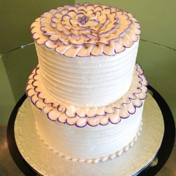 Flower Petal Tiered Cake